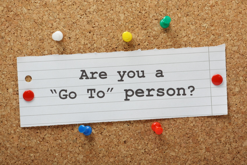 Are You a Go To Person? on a cork notice board